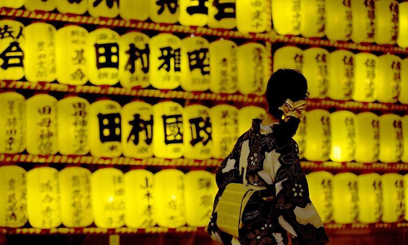 جاپان میں جنگ کے متاثرین کیلئے لالٹین فیسٹیول