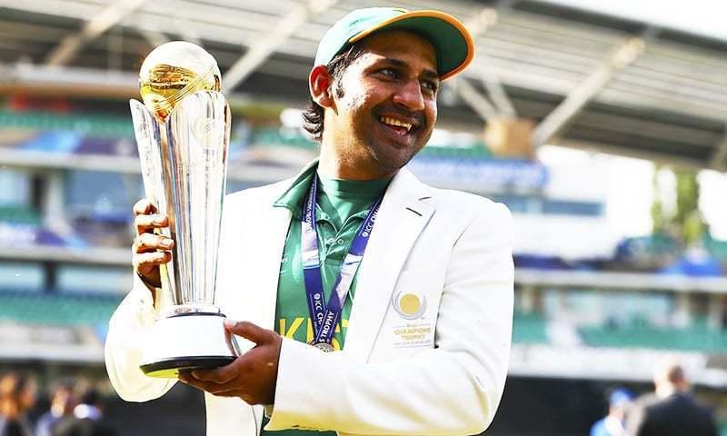 پاکستانی ٹیم نے سرفرازکی قیادت میں چمپیئنزٹرافی جیتنے کا اعزاز حاصل کیا تھا—فائل/فوٹو:اے پی