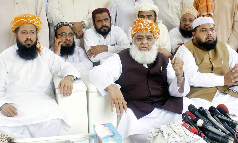 """India and USA have forged a 'nexus' and their target is Pakistan and China,"" says JUI-F chief Fazlur Rehman. —PPI"