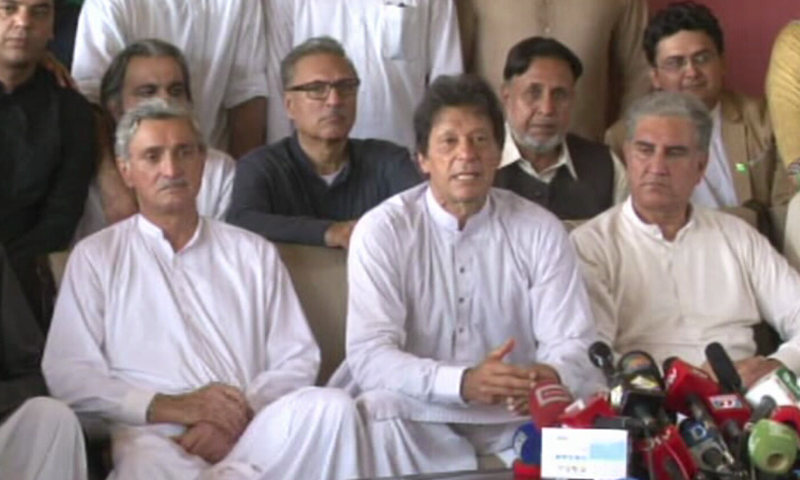 Khan thanked the SC, the JIT and the people of the country for their continuous struggle against corruption. — DawnNews