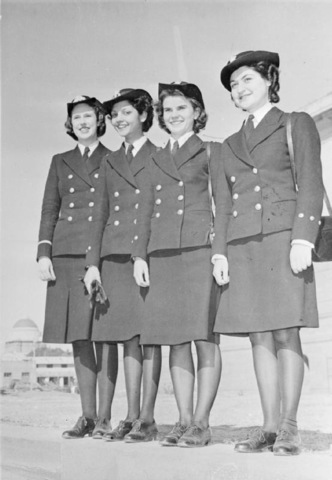 Four women of the Naval Wing of the Women's Auxiliary Corps (India), 1945. –Source: Wikipedia