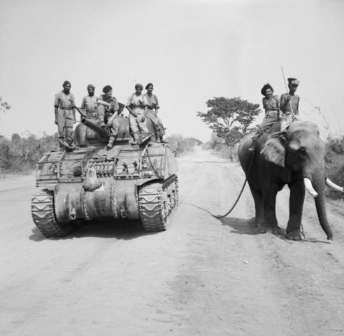 Sherman tank of the 9th Royal Deccan Horse, 255th Indian Tank Brigade, Burma 1945. –Source: Wikipedia