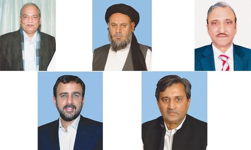 Mushahidullah Khan, Sardar Awais Ahmed Khan Laghari, Maulana Ameer Zaman, Muhammad Pervaiz Malik, Lt Gen Salahuddin Tirmizi