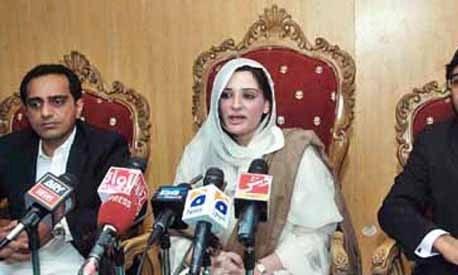 Ayesha Ahad (Malik) speaks at a press conference. Photo:File.