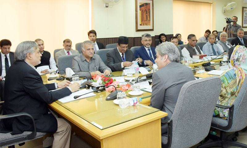 Finance Minister Ishaq Dar is addressing a conference of Inland Revenue chief commissioners on Monday.