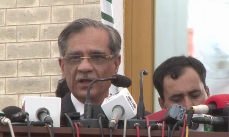 Chief Justice Saqib Nisar — Screengrab DawnNews