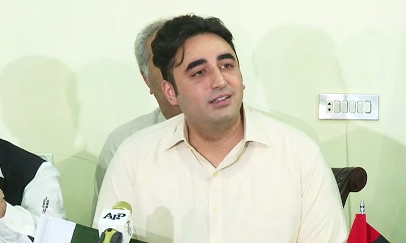 Bilawal Bhutto Zardari addresses a press conference on August 11. — DawnNews