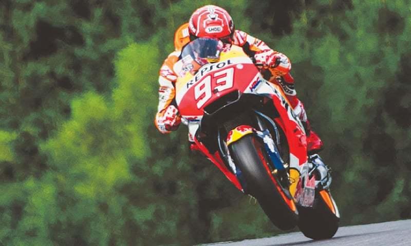 Marquez storms to third straight pole at Austrian MotoGP