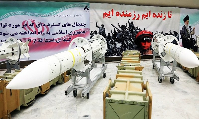 This file photo released by Iran's Defence Ministry shows newly-upgraded Sayyad-3 air defense missiles on display at an undisclosed location in Iran.—AFP/File
