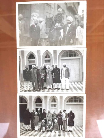 A wedding picture of Gurpreet's father in his house in Rawalpindi.