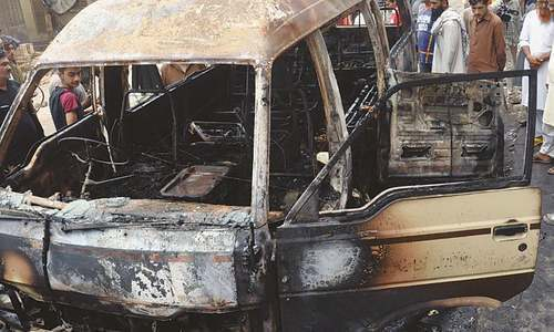Karachi van fire: owner, driver booked for manslaughter