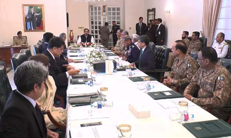NSC meeting reviews situation along LoC, western border