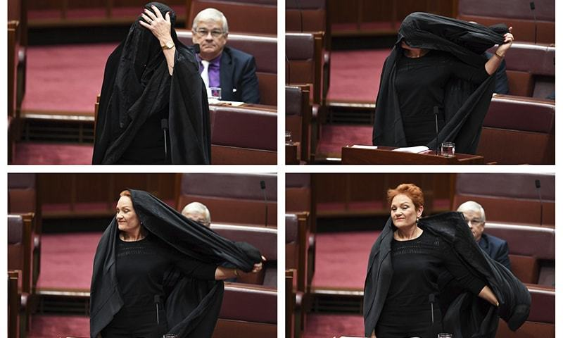 One Nation Senator backs Hanson's burqa stunt
