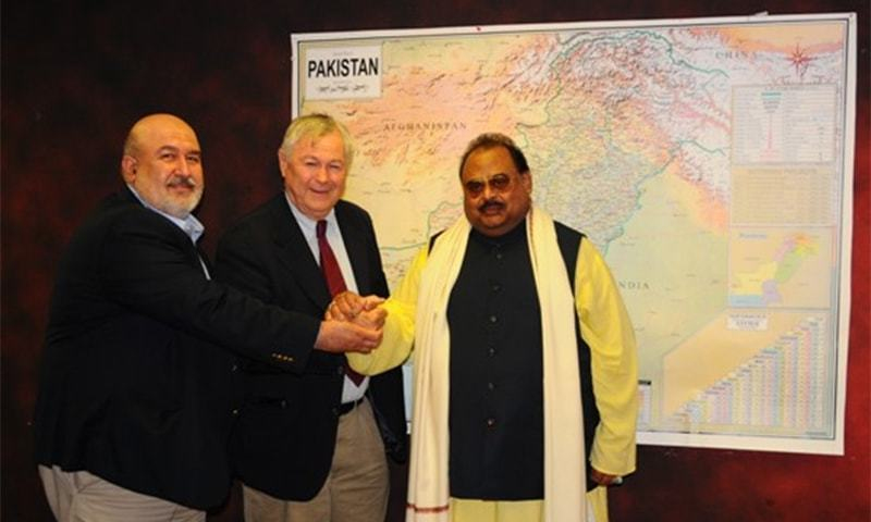 الطاف حسین، روباکر اور خان آف قلات نے مستقبل میں بھی ملاقاتیں جاری رکھنے پر اتفاق کیا—فوٹو:ایم کیو ایم ویب سائٹ