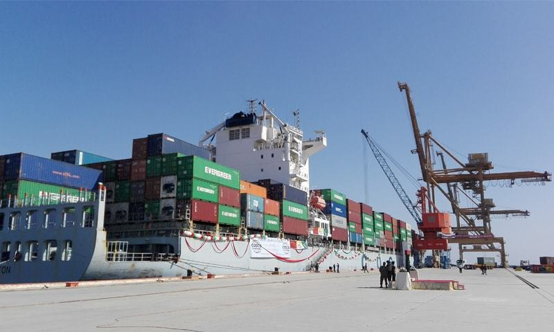 GWADAR: The first outbound cargo vessel was leaving the port in November 2016.—Dawn