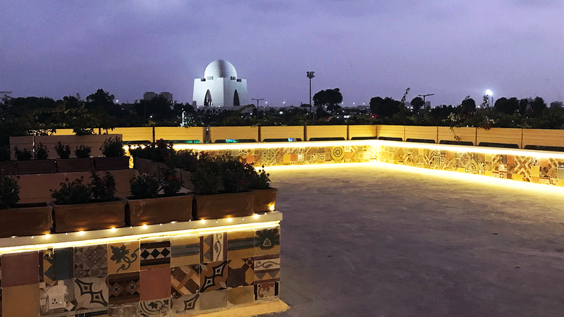 TDF Ghar offers a breath-taking view of Quaid-e- Azam Mohammad Ali Jinnah's mausoleum from its rooftop where one can sit and relax and enjoy the scene. Photos by Yusra Jabeen