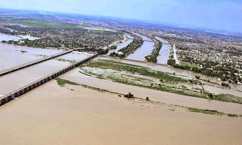 An aerial view of the three canals — Dadu, Rice and Kirthar — emanating from the Indus River is seen in this file photo. The CCI will take up a complaint from Balochistan against Sindh for short supplies of its water share from Pat Feeder and Kirthar canal. Balochistan is demanding that Sindh should ensure its water share and make fiscal compensation for the short supplies.