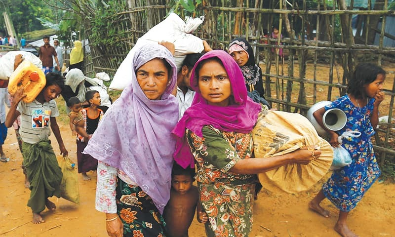 Violence in Myanmar: 18000 Rohingya flee in 5 days