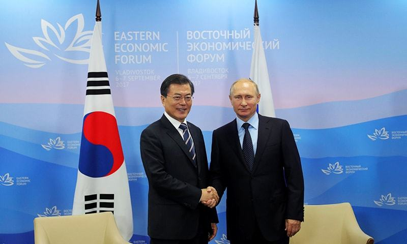 South Korean, Russian leaders hold bilateral talks over North
