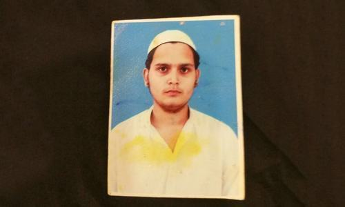 A mugshot of Abdul Karim Sarosh Siddiqui, an alleged ASP militant and mastermind of the attempt on the life of Sindh Assembly opposition leader Khwaja Izhar-ul-Hasan.— Dawn/File