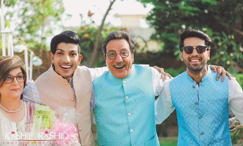 Marina Khan, Mohsin Abbas Haider, Javed Sheikh and Fahad Mustafa - Photo: Kashif Rashid