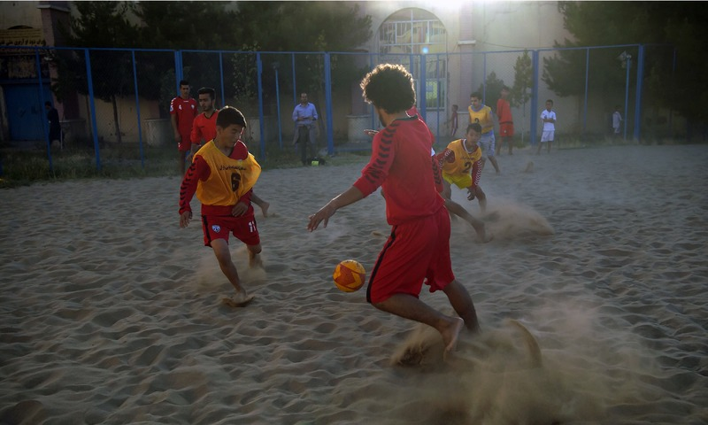 The enthusiasm shown by Afghan children for the beautiful game came to the world's attention last year.—AFP
