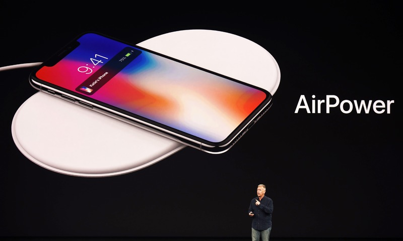 Senior Vice President of Worldwide Marketing at Apple Philip Schiller introduces AirPower, a wireless charging system, during iPhone launch event at Apple's new headquarters in Cupertino, California on September 12, 2017.  —AFP