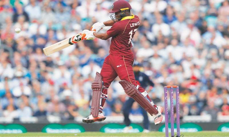 West Indies steady with Lewis-Mohammed partnership against England