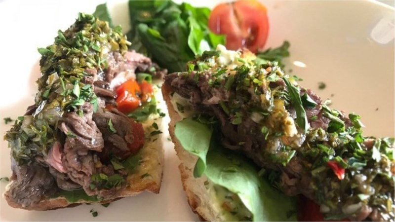Beef chimichurri bites from Evergreen