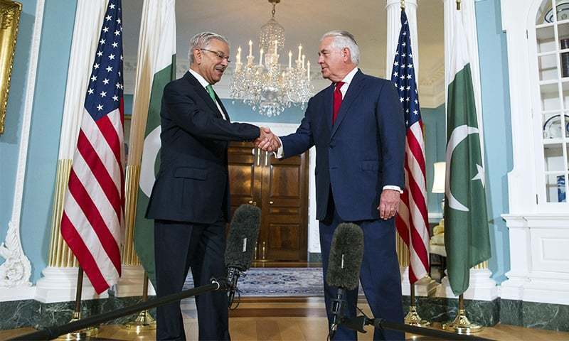 Secretary Tillerson plans to arrive in Islamabad late this month and he will be followed by Secretary of Defence Jim Mattis early next month. — File