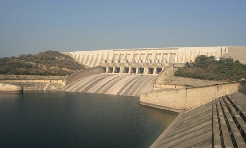 A VIEW of the Mangla dam. River flows are not showing a promising trend due to atypical weather conditions.