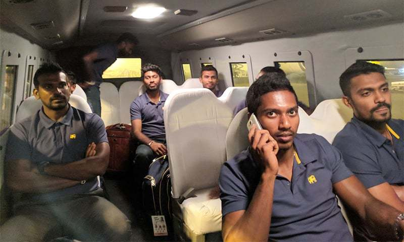 Sri Lanka team arrives in Lahore ahead of the final Twenty20. ─Photo courtesy: PCB Twitter