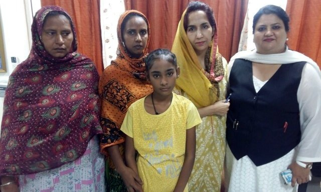 Fatima, Mumtaz and 10-year-old Hina are among those being sent back to Pakistan on Thursday. —Photo by Indian High Commission in Islamabad