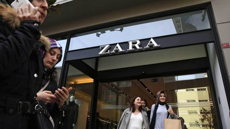 People walk and exit past a Zara branch in an Istanbul upscale neighbourhood. Photo: AP
