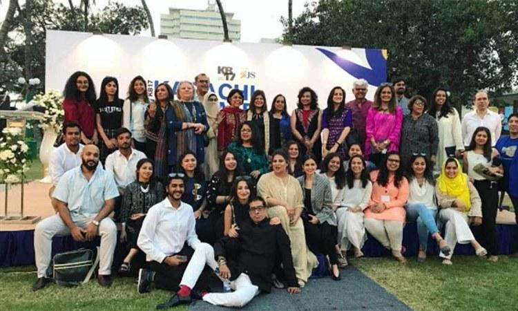The team behind Karachi Biennale 2017 — Photo courtesy Karachi Biennale's Instagram