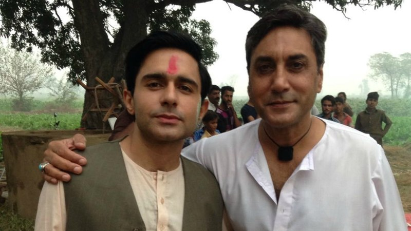 Adnan Siddiqui (right) with Hamza Firdous pause for a picture during the shoot of Gughi