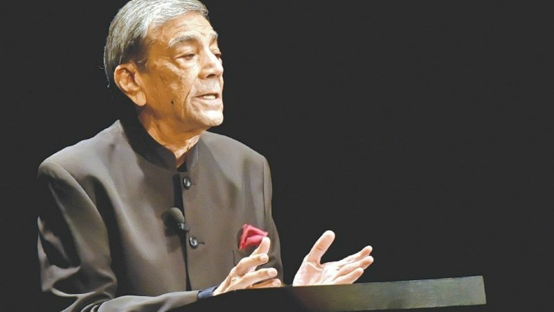 "Mr Mohyeddin set the tone of his talk by telling the audience ""why is Shakespeare uniquely Shakespeare"" — Fahim Siddiqi/White Star"