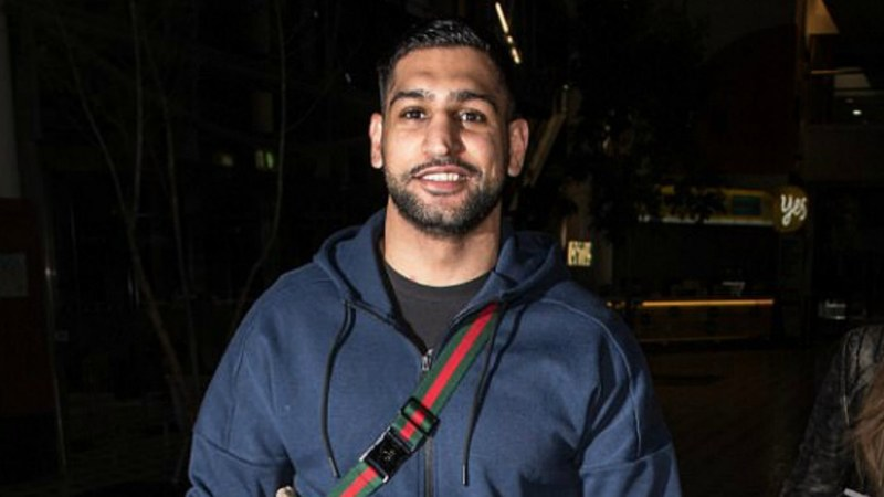 Amir Khan was photographed at the Brisbane airport on Saturday — Photo credits: James Gourley/REX/Shuttershock