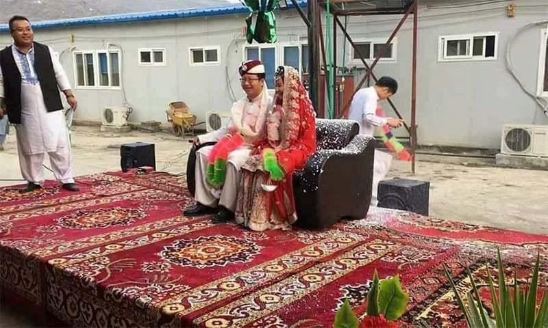 چین سے واپسی پر تقریب منعقد کی گئی—فوٹو: لکھاری