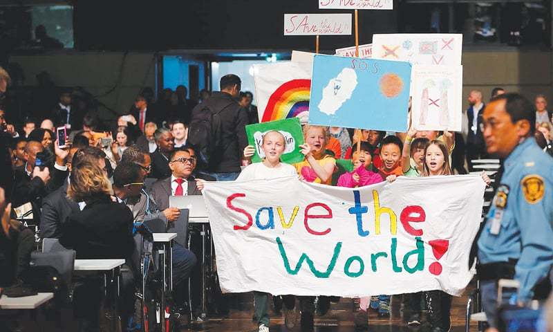 Children are seen during a climate march prior to the opening session of the COP23 UN Climate Change Conference 2017 in Bonn, Germany. —Reuters