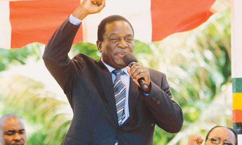 Emmerson Mnangagwa, who has replaced Robert Mugabe as head of Zimbabwe's ruling party.—AP