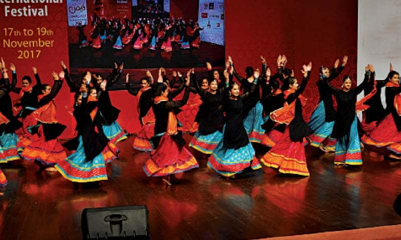 A performance on the last day of the Faiz International Festival at the Alhamra Art Centre on Sunday. — White Star