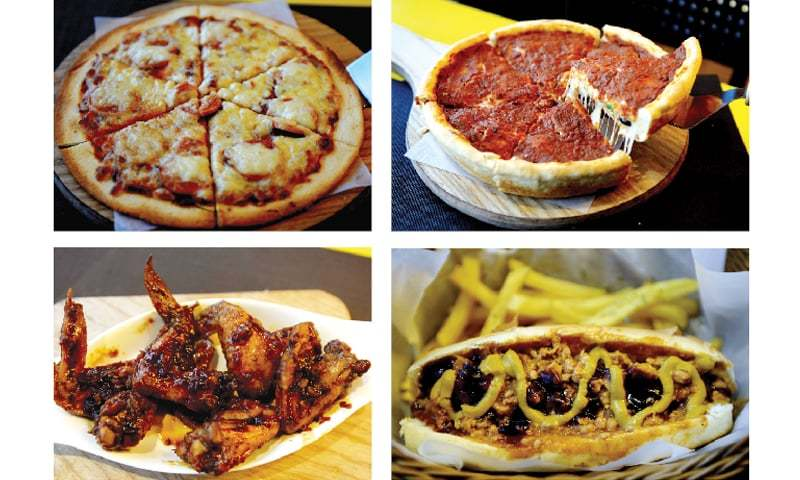 The Cheese Factor's menu includes deep-dish pizzas, hots dogs and starters. — Photos by Mohammad Asim