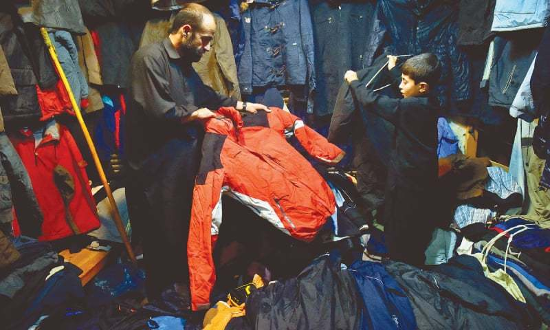 The jackets, which cost Rs4,000 and up if bought new./ Photos by Fahim Siddiqi / White Star
