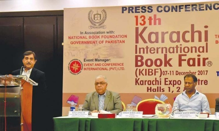 KIBF convener Omair Mirza spoke to the press yesterday - White Star