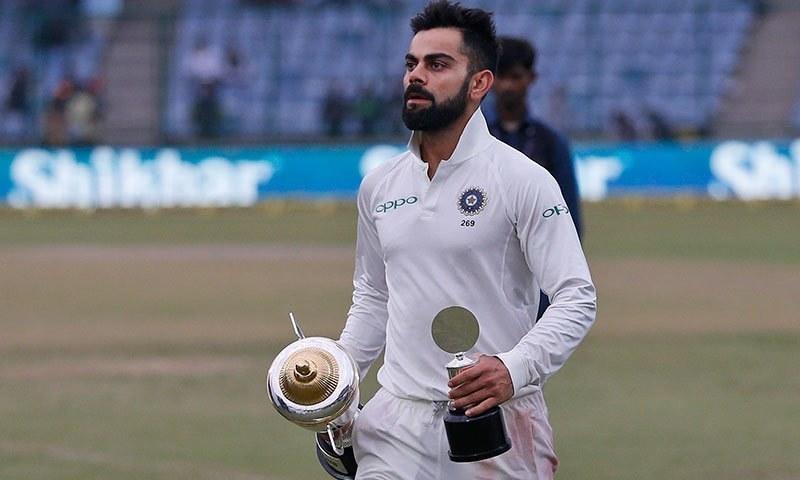 کوہلی سری لنکا کے خلاف سیریز کے بہترین کھلاڑی قرار پائے— فوٹو: اے پی