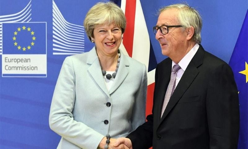 British Prime Minister Theresa May meets European Commission President Jean-Claude Juncker in Brussels.—AFP/File