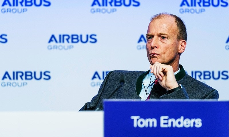 This file photo shows Tom Enders, chairman of European aerospace giant Airbus, attending his company's annual press conference in Germany. —AFP/File