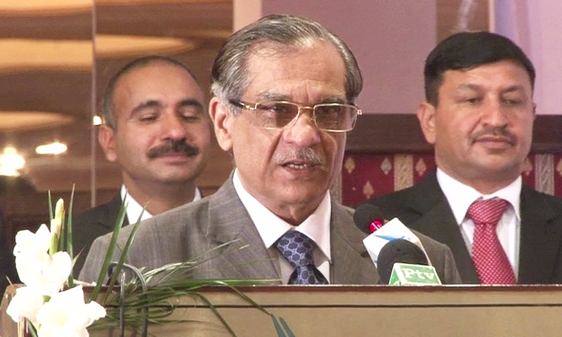 No one can pressure judiciary from outside: CJP Mian Saqib