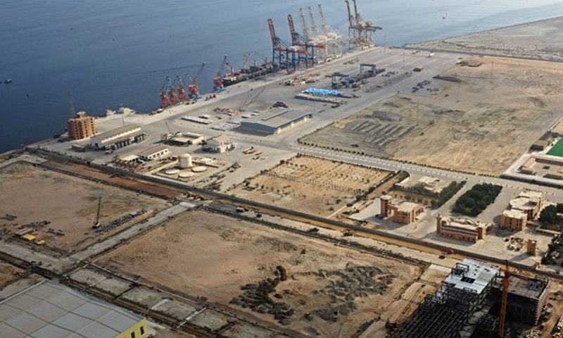 GWADAR: A view of the newly built port. According to Minister for Maritime Affairs Mir Hasil Khan Bizenjo, the project will supplement the Chabahar port of Iran and lead to an increase in regional trade.
